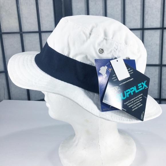 da809b42c0ded NYH New York Headwear Bucket Hat White Lightweight